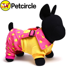 Free Shipping Petcircle Hot Sale Dot Dog Overalls Pomeranian Dog Clothes New Style Dog Clothing 3 Color Size XXS XS S M L(China (Mainland))