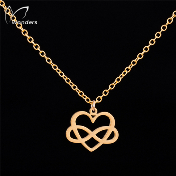 Trendy Jewelry Infinity Cruz Cross Open Heart Kors Necklace Gold Silver Plated Stainless Steel Chain Vintage Accessories(China (Mainland))