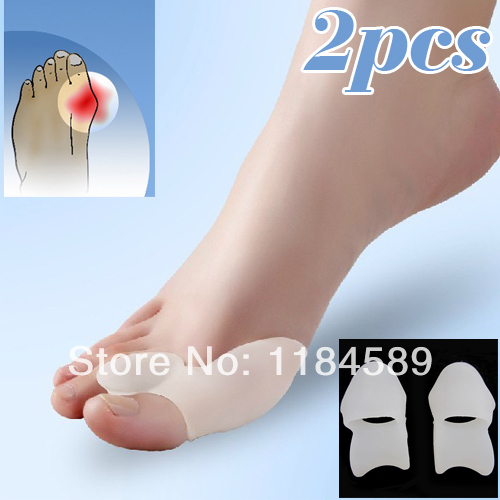 2014 New Hot Soft Beetle-crusher Bone Ectropion Toes outer Appliance Silica Gel Toes Separation Health Care Products(China (Mainland))