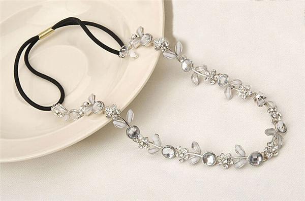 1 PCS Fashion Hair Lady Elastic Rhinestone Headbands Wedding Bridal Hair Accessories Elastic head jewelry(China (Mainland))
