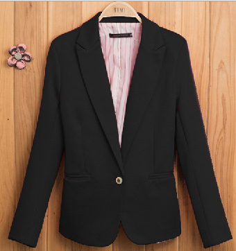 2013 new hot stylish and comfortable women's cotton Blazers Candy color lined with striped Z suit F4100(China (Mainland))