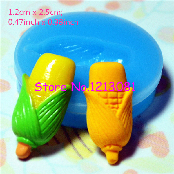 VYL001 Vegetable Mold Corn Mold Silicone Mold Cake Cupcake Fondant Resin Wax Polymer Clay Cake Decorating Craft Pop Up Mold(China (Mainland))