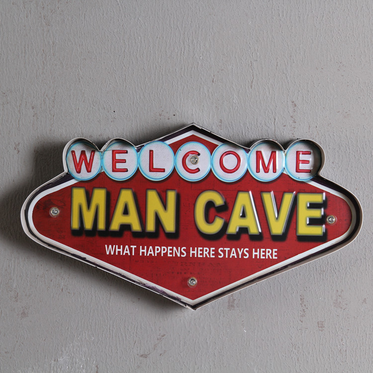 Retro Coffee Bar Led Neon Sign Board WELCOME Metal Wall Plate Beer Signs Party Decor Board(China (Mainland))