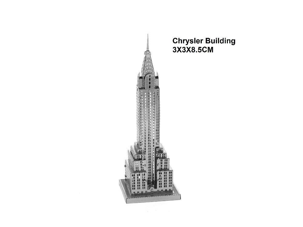 Chrysler building model 2015 3D Metal earth Laser Cutting DIY metallic puzzle jigsaw toys building boat car planes model kit(China (Mainland))