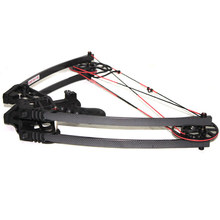 50lb Black Left Right Hand Magnesium Alloy Triangle Compound Bow and Arrow Set Camouflage hunting Bow