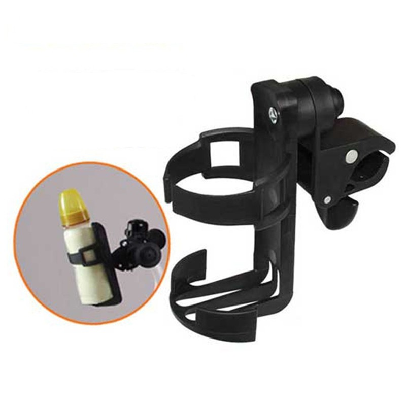Baby stroller cup holder Universal Rotatable Baby Stroller Parent Console Organizer Cup Holder children's bicycle bottle rack