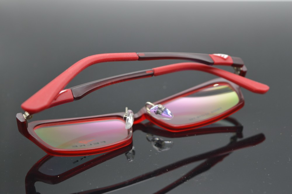 Fiery red TR90 Ultralight glasses frame ladies Custom Made prescription lens myopia reading glasses Photochrmic -1 to -6 +1 to+6