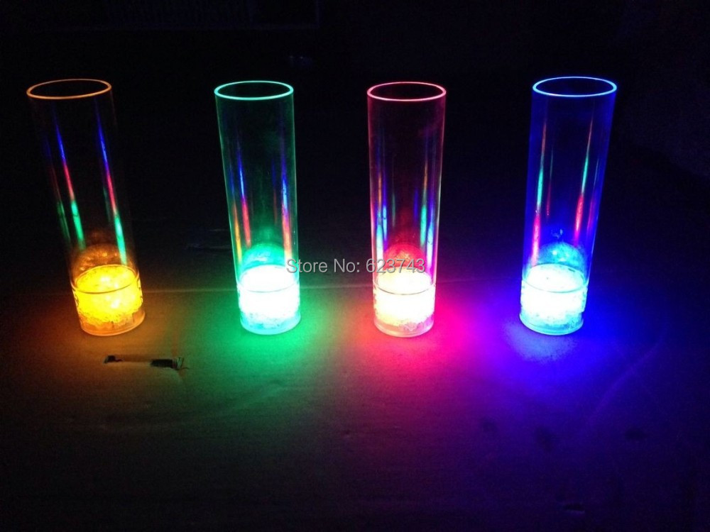 48pcs carton plastic 450ml led long drink glass led light for Glass and acrylic