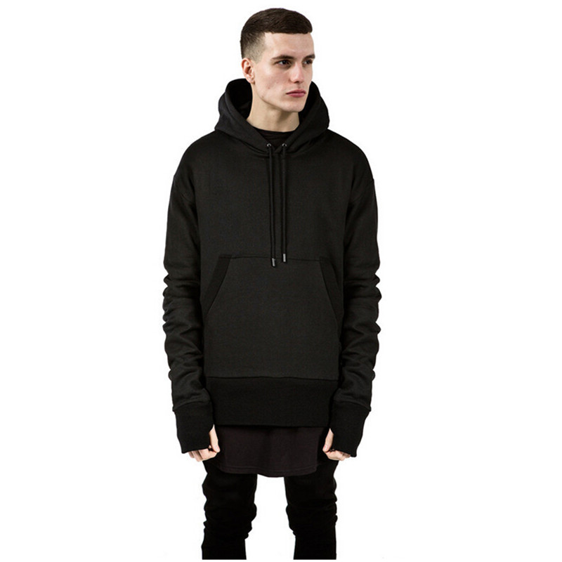 hype mens fashion hip hop 2015 streetwear m 2xl plain black side zip pullover hoodie men. Black Bedroom Furniture Sets. Home Design Ideas