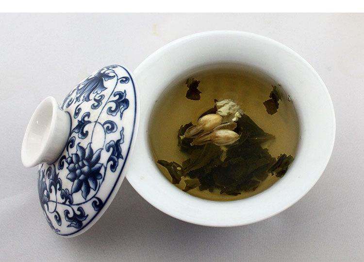 Top grade100g china jasmine green tea chinese green jasmine tea the organic jasmine flower tea green