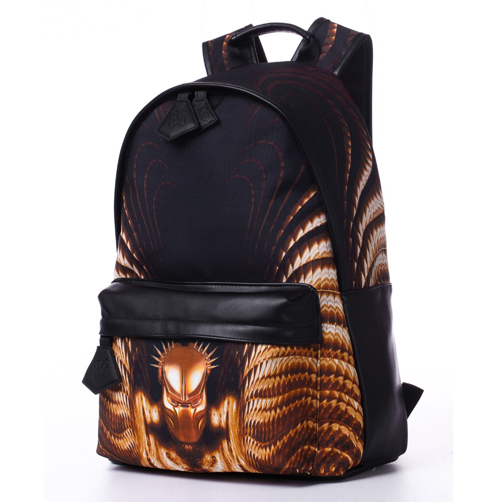 2016 Bistar Brand New Arrival Mask Pattern Backpack Can Be Defined School Bag Waterproof Polyester And PU Rucksack Women BBP610(China (Mainland))