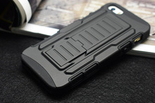 Armor protection shell for Apple iphone5/5s mobile phone case With a support function.water/dirt/shock proof