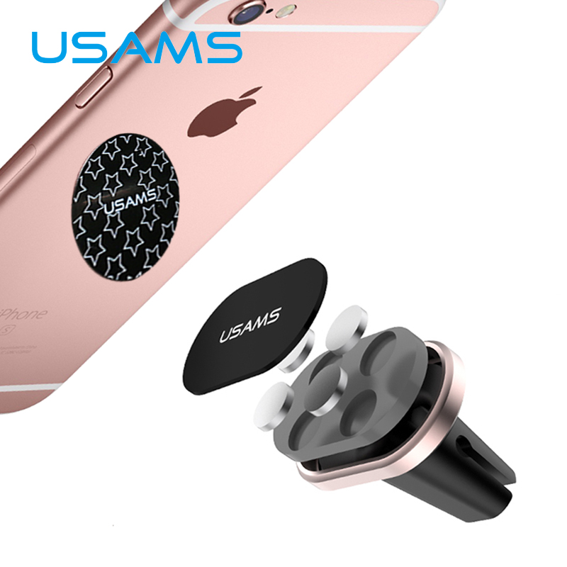 USAMS Magnetic Car Holder Magnet Mobile Phone Holder for iPhone Samsung HTC LG Xiaomi Sony Air vent mount(China (Mainland))
