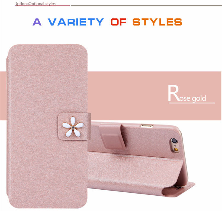 Luxury Book Style Wallet Ultra Slim Flip Leather SKin Case Cover For Apple Iphone 6 4.7Inch Phone Shell Cover with stander