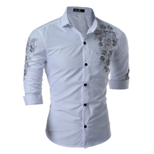 Buy Camisa Masculina 2017 New Spring Flower Printed Shirt Men Long Sleeve Slim Casual Mens Shirts Chemise Homme Brand Clothing XXXL for $11.89 in AliExpress store