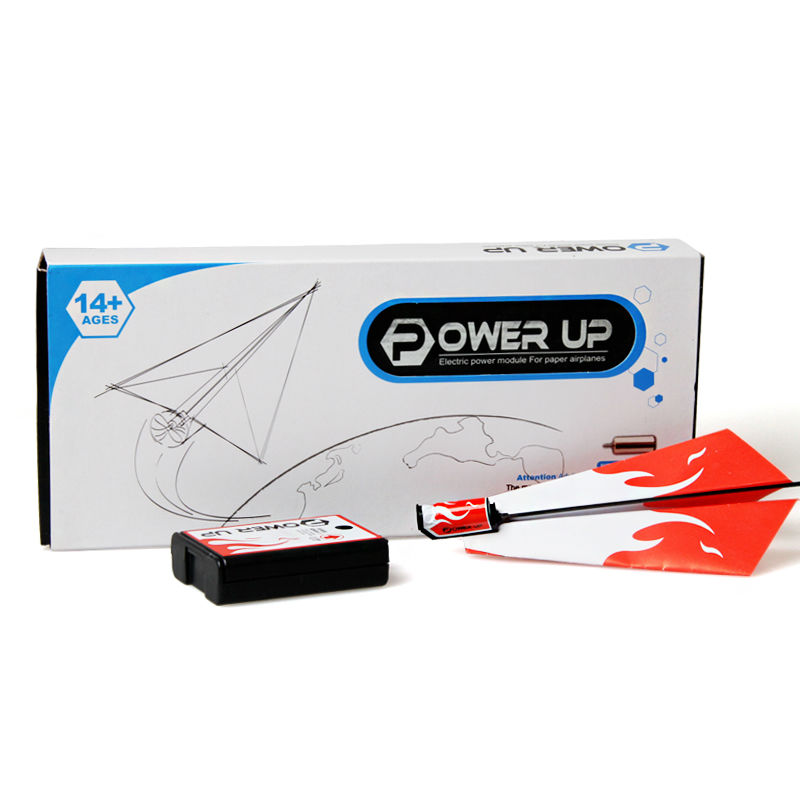 Free Shipping Power Up Electric Paper Airplane Conversion Kit, Free Flight Powerup Paper Airplane, Toy For Children(China (Mainland))