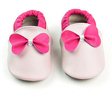 100pairs/lot Baby bow Moccasins Infant Shoes