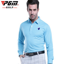 PGM Golf  Men's new polo t-shirt  golf sports clothing tshirt camisa polo masculina polo full sleeve t shirt  men golf apparel