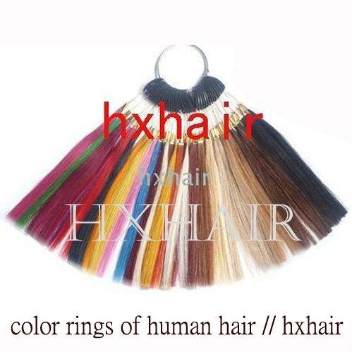 Freeshipping - 2pcs 36 Colors Color Rings / 36 Colors Color Chart / 100% Human Hair / Hair Extension tools(China (Mainland))