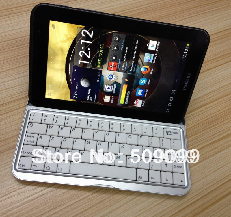 Free shipping Wireless Bluetooth Keyboard cover for Samsung galaxy tab 2 7.0 p3100 p3110/p6200 Bluetooth keyboard(China (Mainland))