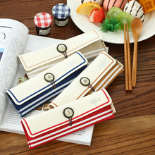 1Pcs Classic Blue Tableware Wood Chopsticks Spoon Tableware Pouch Wooden Dinnerware Sets Korean Style Stationery H0390(China (Mainland))