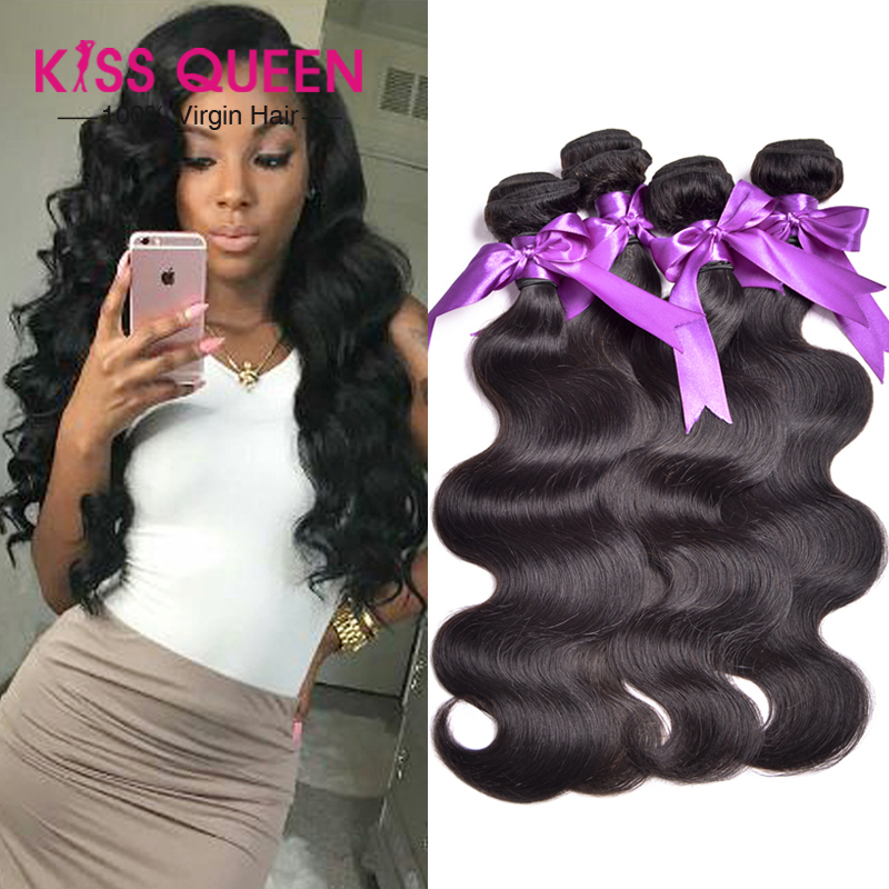 8A Brazilian Virgin Hair Body Wave 4 Bundles Weave Human Thick End - Kiss Queen Products Co., Ltd. store
