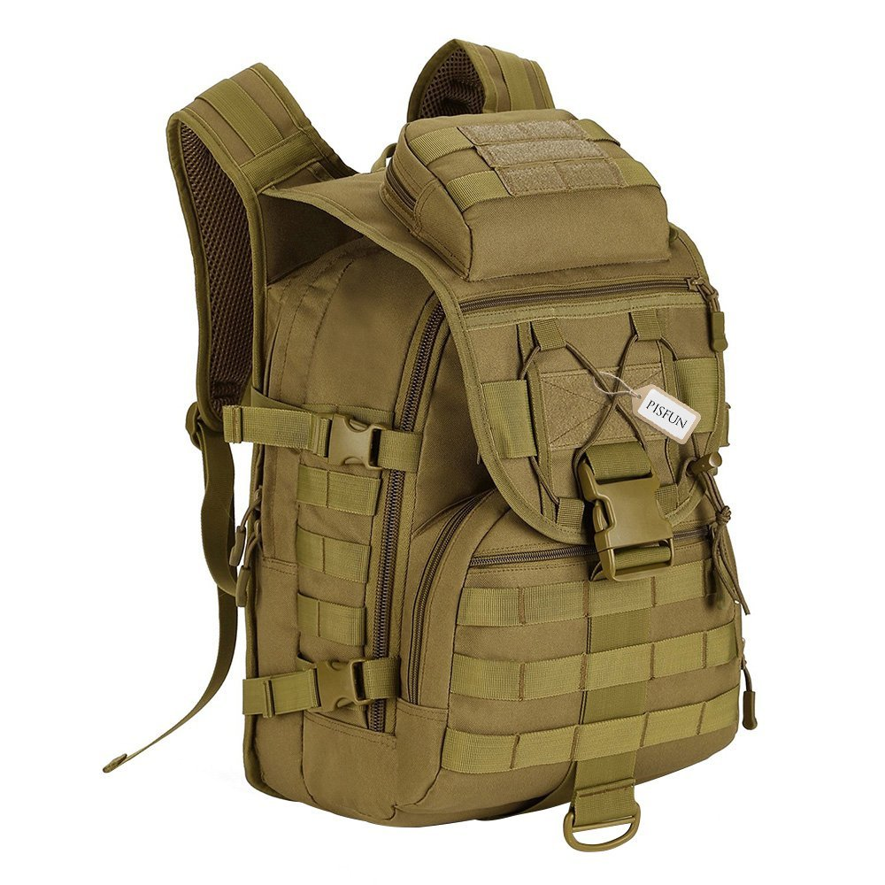 Tactical Backpack 40L Camping Bags Waterproof Molle System Military 3P Tad Assault Travel Bag Men Cordura - UNITEWIN Monday Outdoor Gear Club Store store