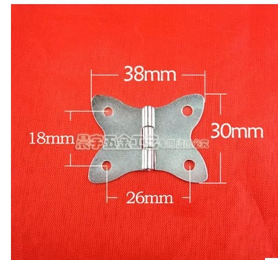 K077 Butterfly White hinges ordinary flat hinge box jewelry box hardware hinge(China (Mainland))