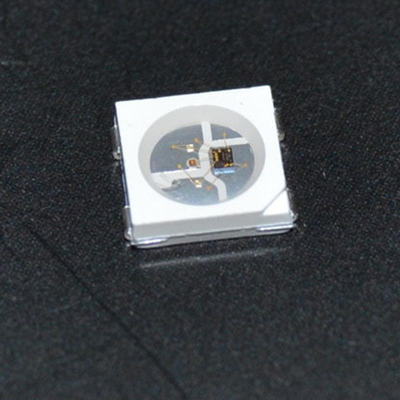 10pcs/lot 1000pcs/lot WS2812B 4Pin 5050 SMD chip for RGB led strip DC5V Individual Addressable Black White version fast ship KH(China (Mainland))