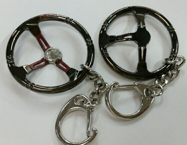 1 pcs Aluminum steering wheel Keychain key ring JDM style for sparco style key chain Nos keyring diameter 40mm(China (Mainland))