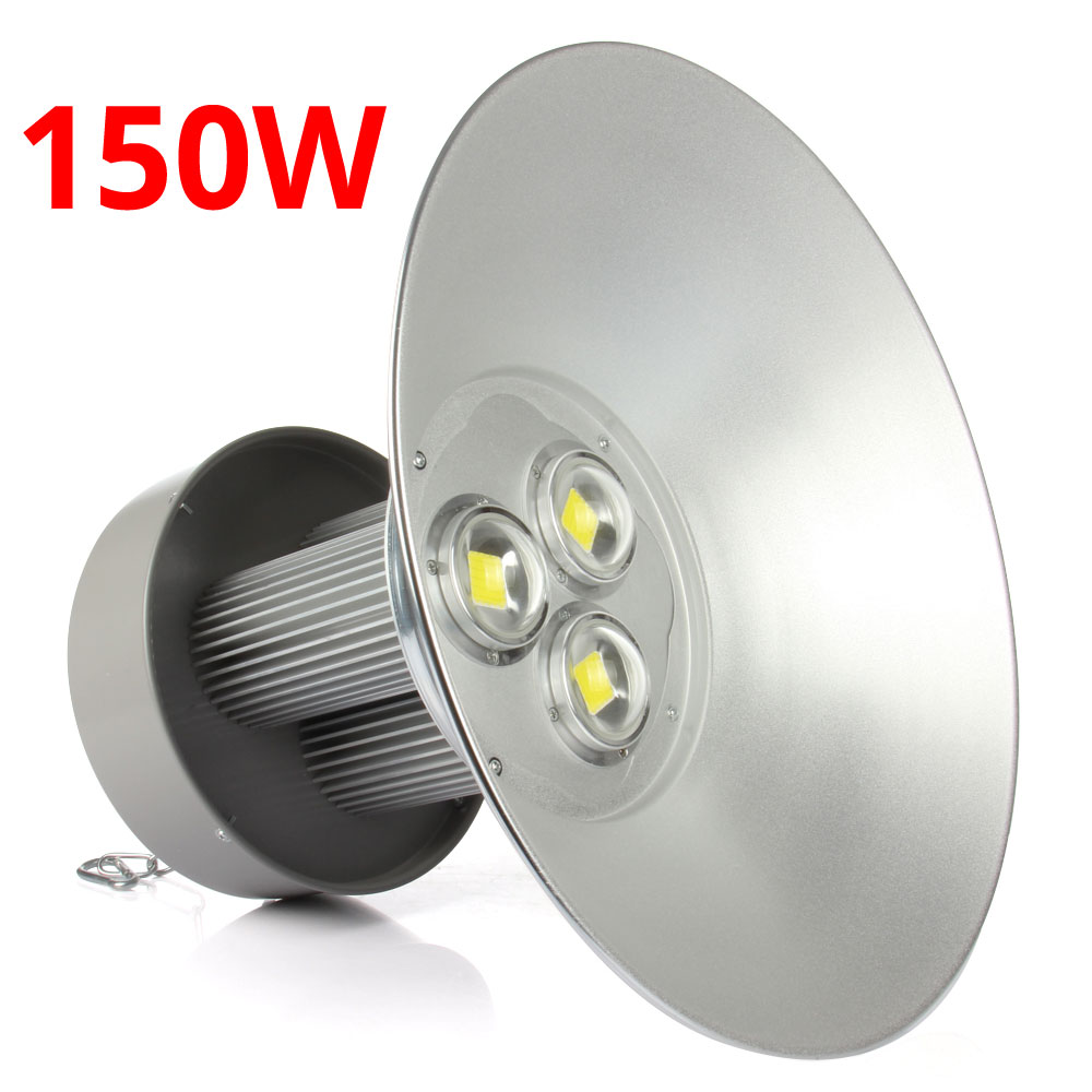 Фотография Long Life150W Watt LED High Bay Light Bright White Lamp Lighting Fixture Factory Industry