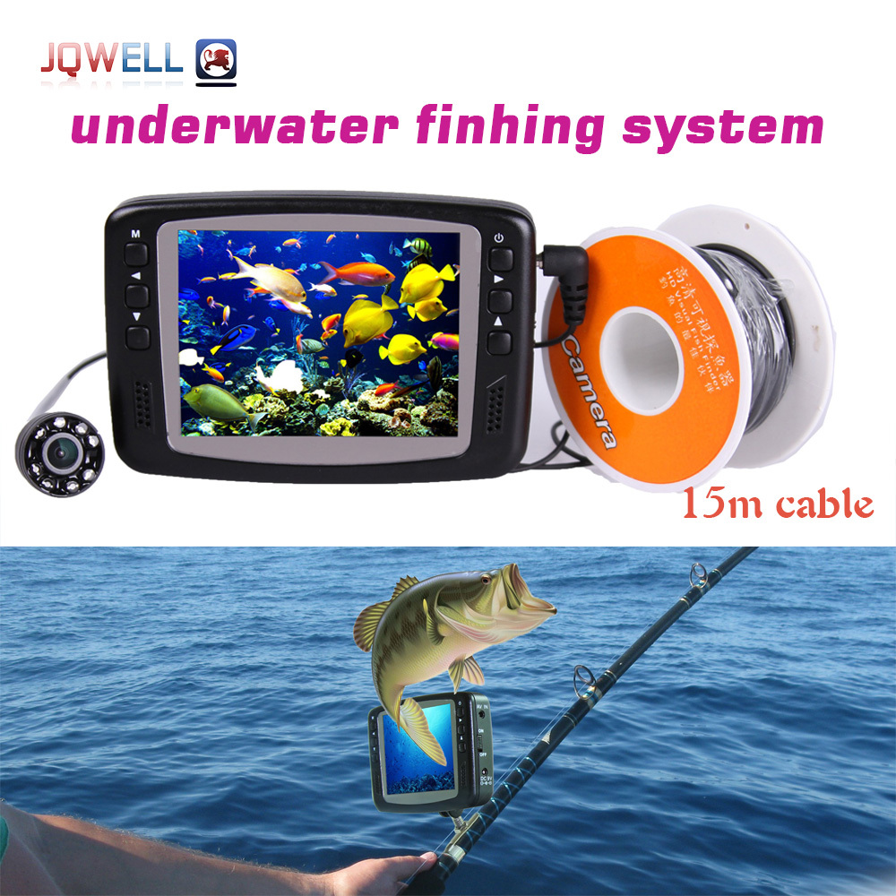 underwater digital hd camera system for fishing video camera with monitor fishfinder kit 15m cable fish finder 8 infrared LED(China (Mainland))