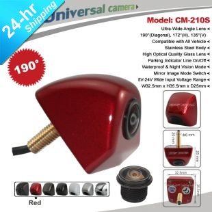 In Stock HD CCD Wide View Angle 190 Degree Universal Parking Reversing Camera Chrome/White/Silver/Black/Red/Brown Optional(Hong Kong)