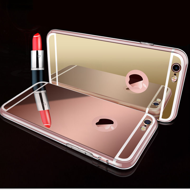 Luxury Mirror Electroplating Soft Clear TPU Plastic Cases For iphone se / 6 / 6S 4.7 inch / 6 Plus 5.5 inch 5 5s Back Cover Bags(China (Mainland))