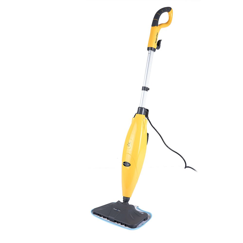 S3022 Yellow Household Steam Cleaner for All Floor Kitchen Carpet Handheld Steam Mop Multifunctional Cleaning Machine US/EU Plug(China (Mainland))