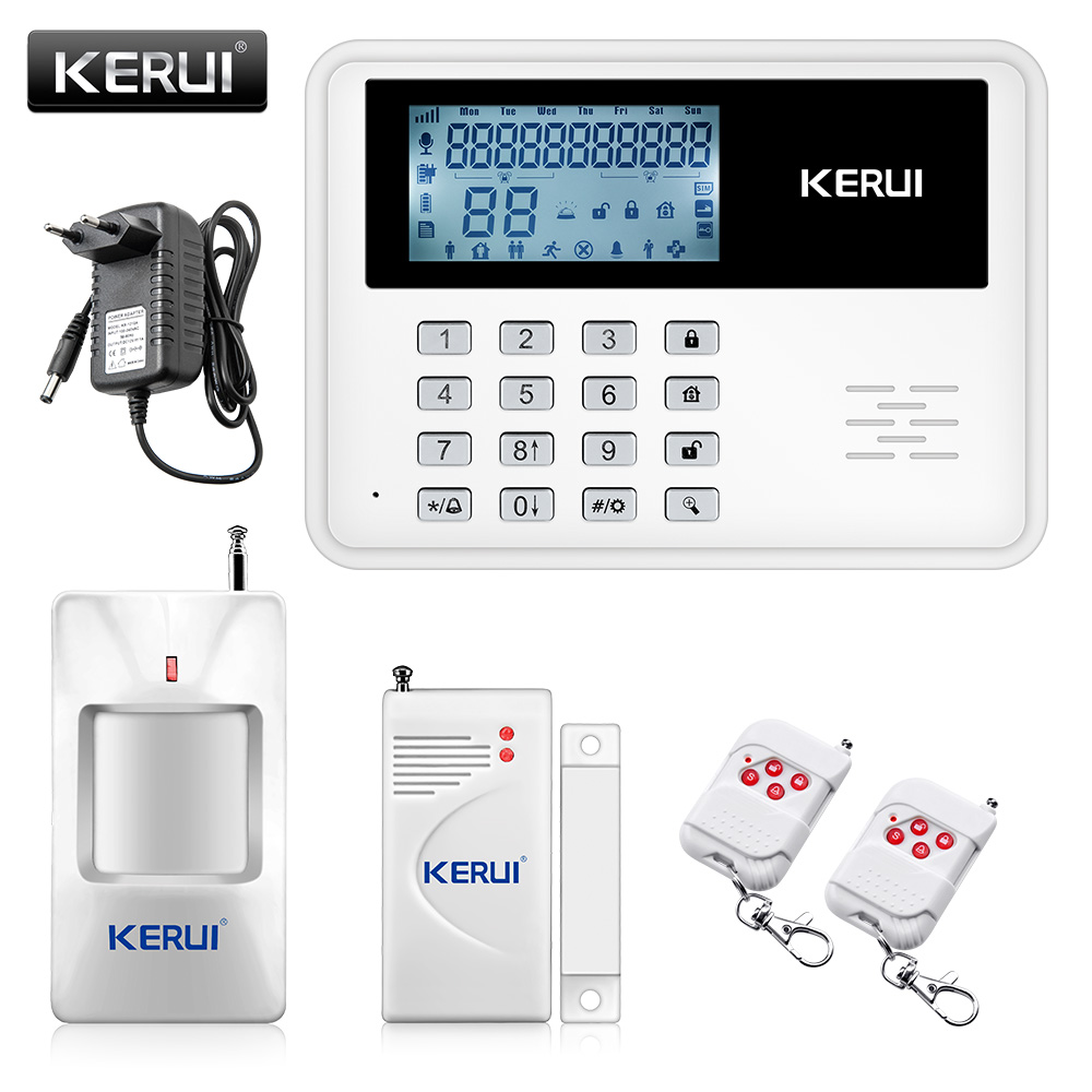 2017 NEW KERUI 5900G Android IOS app set Wireless GSM PSTN System Home/House/Office GSM Alarm System Kit+Very large LCD screen(China (Mainland))