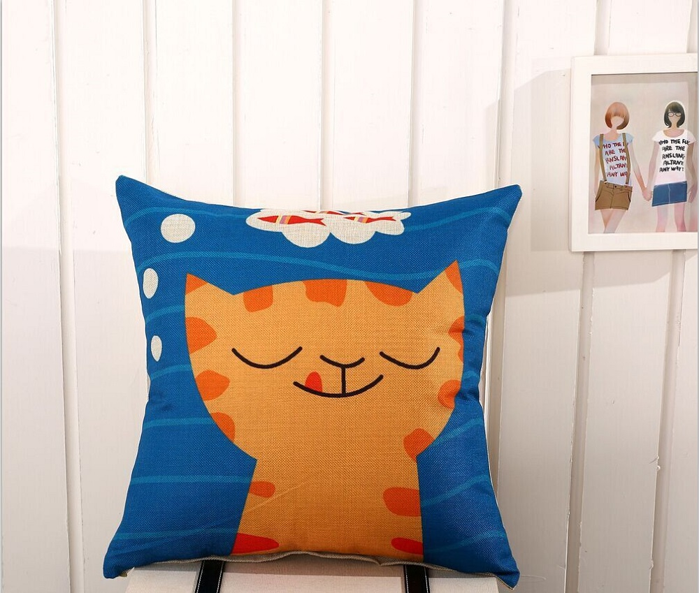 The cat cotton sofa cushion pillow special offer gift wholesale supply cushions home decor(China (Mainland))