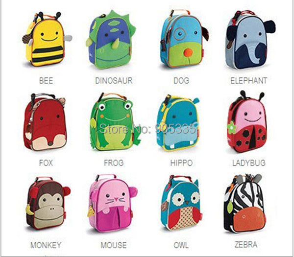 Children School Bag Cartoon Animal Canvas Backpack Baby Toddler Kids Leather Shoulder Kindergarten Schoolbag - Anstore 1688 store