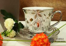 Set ceramic tea set fashion classic platinum teapot hoaxed belt coffee and tea