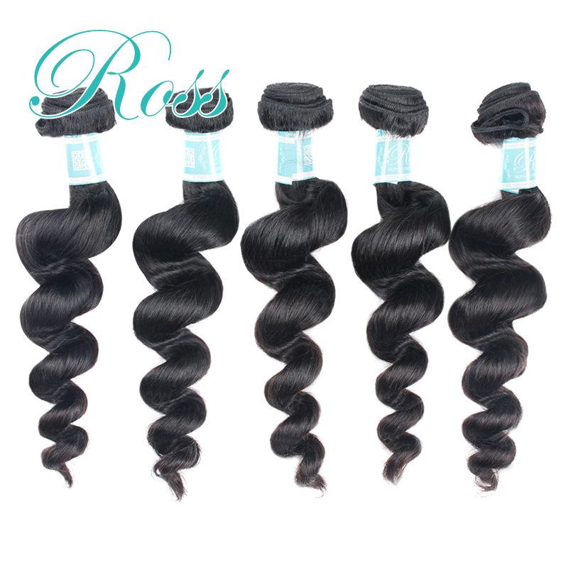 products Rosa Hair Products Human Hair Brazilian 5pcs Virgin Hair Nature Colour Unproccessed Virgin Hair Loose Wave
