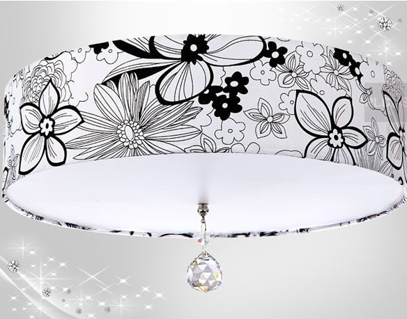 Special offer! 30cm Fabric lampshade modern led ceiling light lamp for home/ bedroom/dinning / living room with LED Light Sourc(China (Mainland))