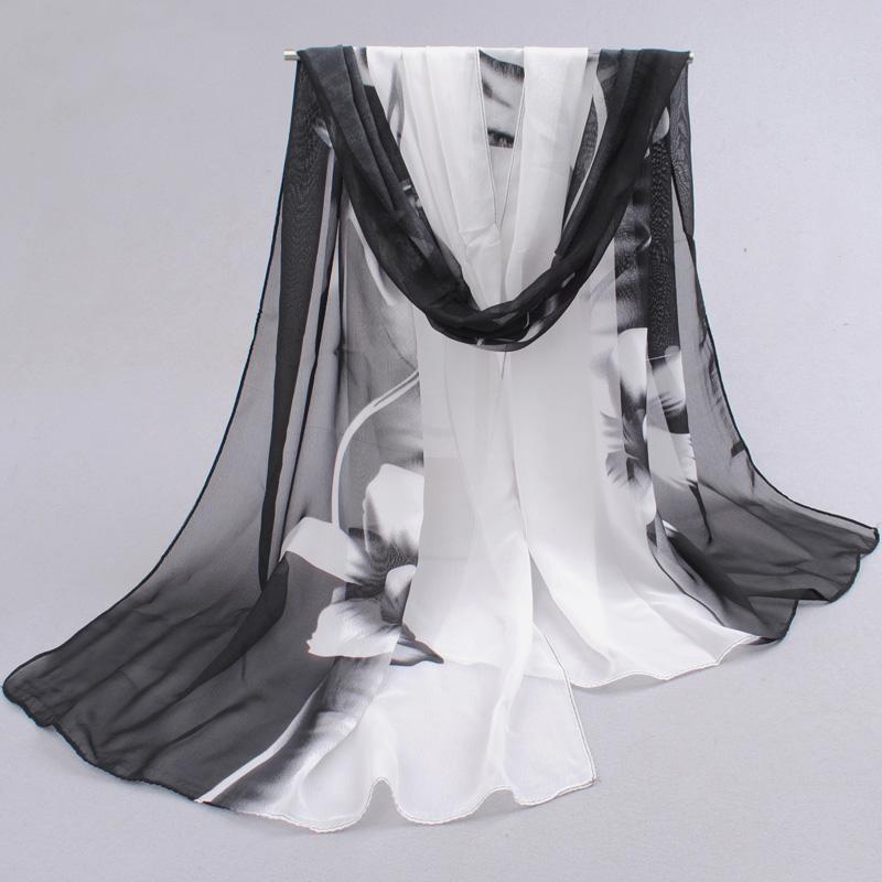2016 Brand Woman Silk Scarf Printing Hijab Women's Scarves Fashion Chiffon Silk soft Scarfs Shawl Scarves Wraps 160*50cm(China (Mainland))