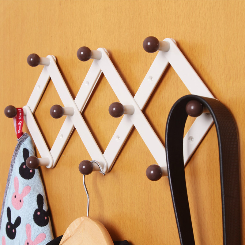 Hanger Rhombus Retractable Hangers Door After Seamless Hook Coat Hooks
