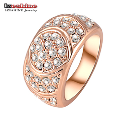 New Arrival Engagement Ring 18K Rose Gold Plate Women Rings Made With Genuine SWA Elements Austrian Crystal 24*12mm Ri-HQ0071