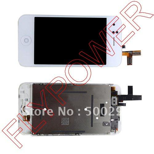 For iphone 3GS LCD screen with white color touch digitizer assembly by free DHL, UPS or EMS: 10pcs/lot(China (Mainland))