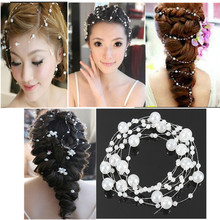 Wholesale Aesthetic Pearl Studded Wedding Bridal Party Headpiece Tiara Headdress Hair Accessories Jewelry Hairband Free Shipping(China (Mainland))