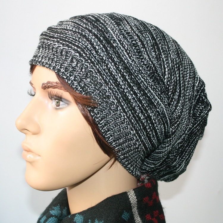 Unisex Womens Mens Knit Baggy Beanie Hat Winter Warm Oversized Ski Cap - sincerity forever's store