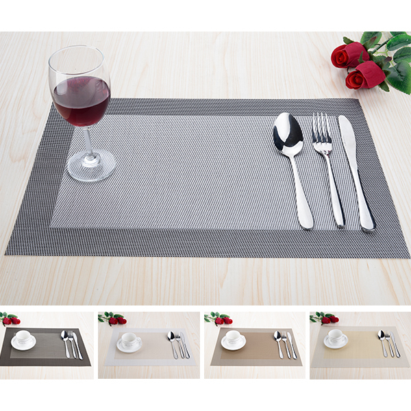 8pcs/lot PVC Modern Dinning Placemats for Table mat manteles individuales doilies cup mats coaster table cloth pad(China (Mainland))