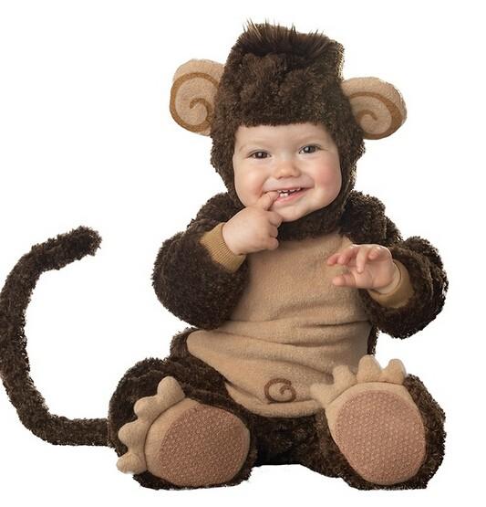 Скидки на 2016 Новое Прибытие Высокого Качества Мальчиков Girlscute обезьяна Костюм Ползунки Детская Одежда Набор Малышей Co-скошенный