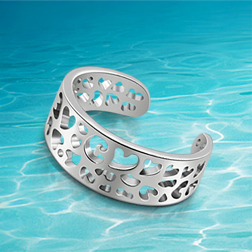 genuine solid 925 sterling silver ring the fashion